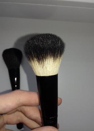Натуральная кисть бренда wobs для румян и коррекции w5118 коза плоская профессиональная