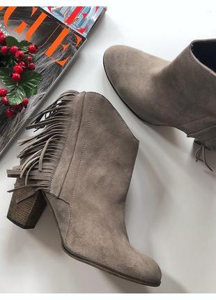Шикарные ботинки с бахромой catwalk pp 37 made in spain