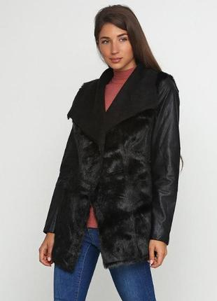 Женская, куртка, экокожа, с мехом, демисезон, весна, esmara, р.38