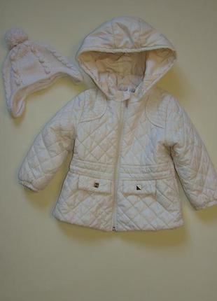Стеганная деми курточка куртка одягайко малышке1,5-2 годика + шапочка в подарок!!!