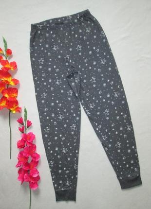 Трикотажные спортивные брюки с начесом принт звездное небо  с манжетами george