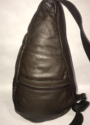 Мексика! мужской кожаный городской рюкзак- сумка через плечо.