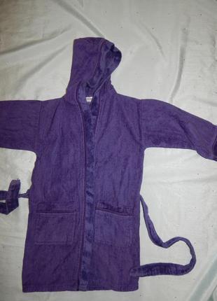 Cotton works халат махровый на мальчика 8 лет с капюшоном
