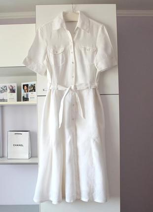 Шикарное льняное платье-рубашка от mexx, 100% лен