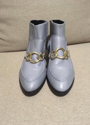 Голубые ботинки,полусапожки,ботильйоны с пряжками,next