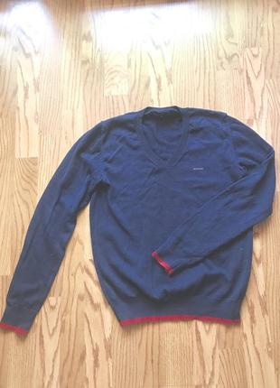 Пуловер яхтинг gio di mare синий с контрастным красным