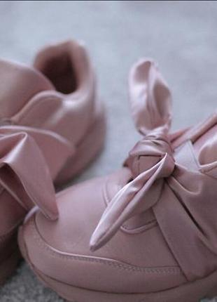 Женские кроссовки pink бант 37-39