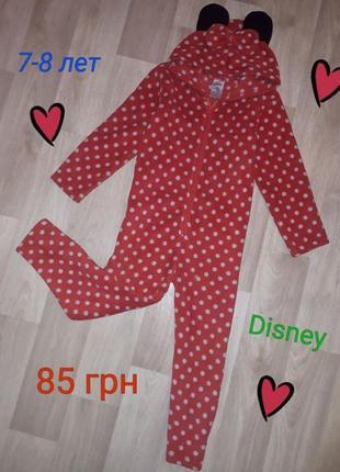 Флисовый человечек пижама слип 7-8 лет disney