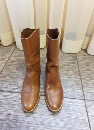 Брендовые ботинки massimo dutti, оригинал, кожа, испания
