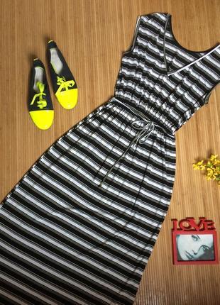 Платье в полоску в пол, размер m