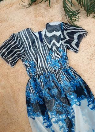 Длинное шыкарное вечернее платье в пол размер м-л