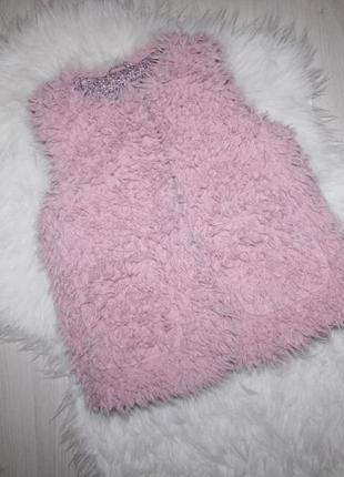 Модная лохматая жилетка в стиле teddy bear