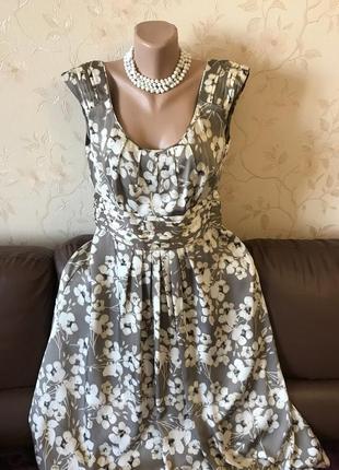 Легкое шелковистое платье от monsoon большой размер (uk16 - наш 50)