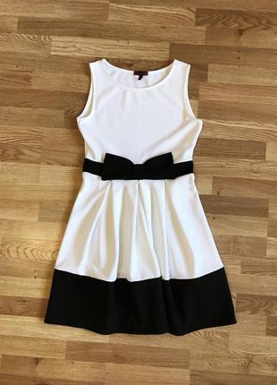 Контрастное неопреновое платье miss london (uk14 - наш 48)