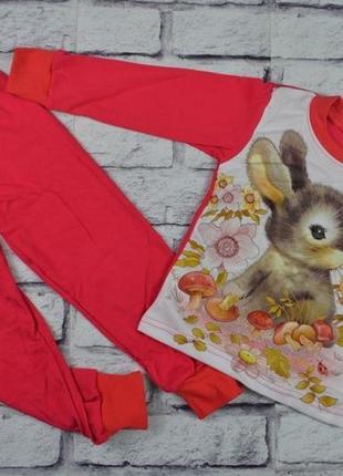 Детская пижама с зайкой начес