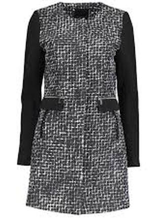 Классическое твидовое пальто amisu деми  2 цвета