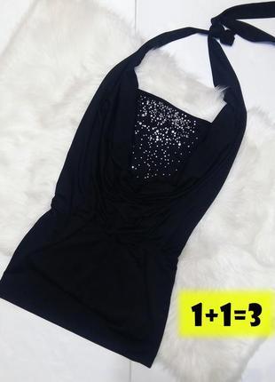 Brooker коктейльное мини платье xs-s черное стразы хомут в обтяжку по фигуре бюстье