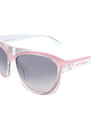 Новые. культовые солнцезащитные очки diesel 55dsl серебро/розовые