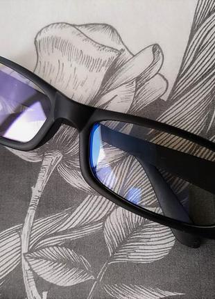 Распродажа! компьютерные черные матовые очки защитные для компьютера стиля прямоугольные2 фото