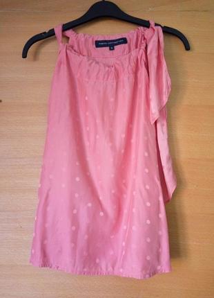 Топ / блуза натуральный шелк с бантом french connection