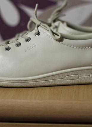 Ecco таиланд кожаные туфли-мокасины 39р ст.25 см