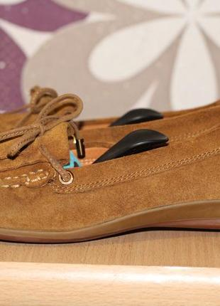 Geox кожаные туфли, мокасины 36-37 ст. 24см