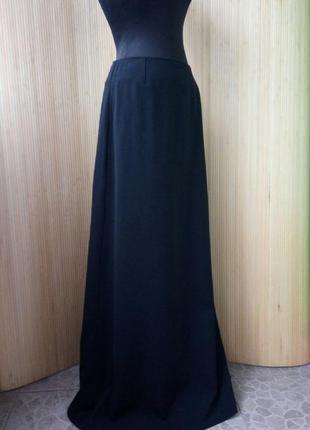 Чёрная длинная юбка тонкая шерсть kenzo jungle