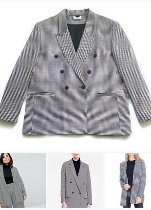 Шикарний піджак блейзер жакет гусяча лапка/двубортный пиджак гусиная лапка imagination
