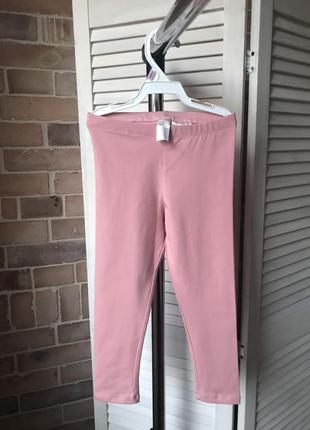 Лосины, леггинсы розовые h&m на рост 98 см