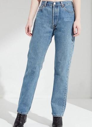 Винтажные олд скул мом джинсы высокая посадка levi's 501 w32 l30. оригинал.
