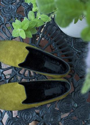 Замшевые лоферы santoni