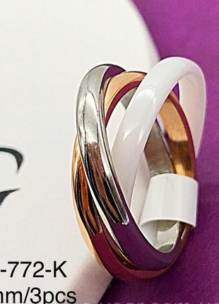 Кольцо керамика r-761 (9,10,11 р.)1 фото