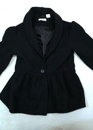 Пальто черное bpc, стильное, подростковое, отл сост!