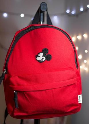 Красный детский рюкзак с микки-маусом disney