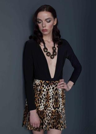 Трендовая леопардовая юбка