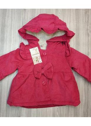 ... Пальто для дівчаток весна-осінь вельветове малинове3 11d8e09d31c71