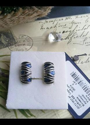 Новые классные серьги серебро 925 пробы