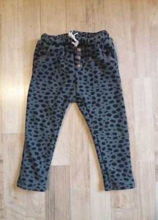 Теплые легинсы штаны лосины на девочку zara 1,5-2года.