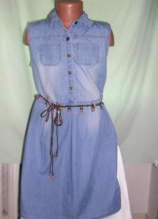 Платье джинсовое на 10-11лет