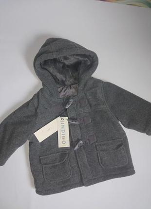 Классная куртка,пальтишко на малыша 3-6 мес.,утепленная от m&s