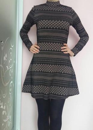 Милое платье под горло и юбочкой солнце fb sister f39d62c9e4873