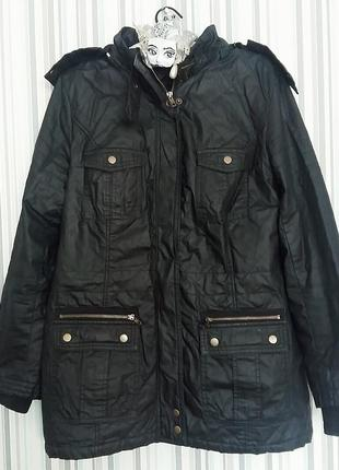 Удлиненная осенняя куртка/парка на 46-48 размер