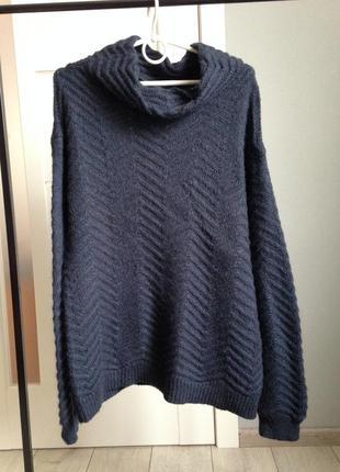 Теплющий фактурный свитер под горло /нюанс!
