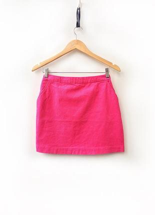 Яркая вельветовая юбка