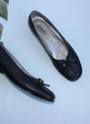 38 24,5см gabor кожаные туфли на низком ходу, балетки