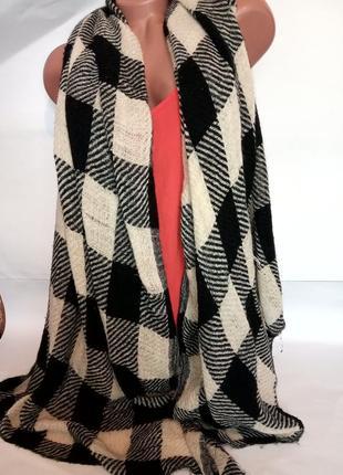 Шарф-платок в клетку, носите с удовольствием (распродажа)