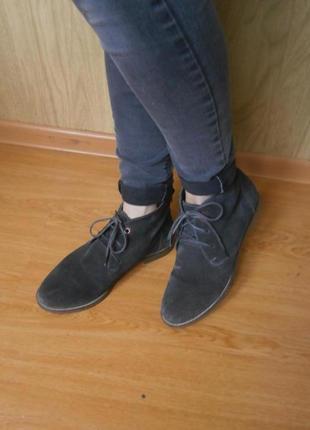 Мягкие ботинки/нат.замш/25-25,5 см/низкий ход