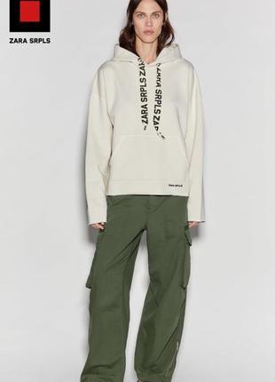 Худи в стиле милитари свитер, кофта, zara srpls, размер s, m