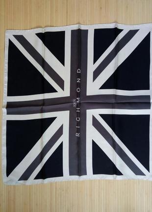 Дизайнерский шелковый платок / шарф john richmond