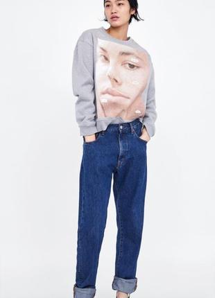 Кофта свитер с помётом фотографии zara, размер s